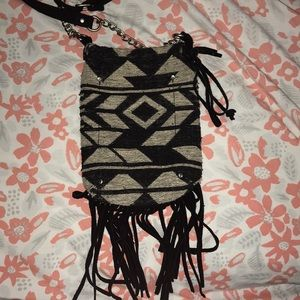 Over shoulder fringe bag